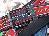 Мужской тканевый ремень Tommy Hilfiger красно-черный, фото 2