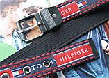 Мужской тканевый ремень Tommy Hilfiger красно-черный, фото 3