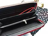 Женский вместительный кошелек Philipp Plein красный, фото 3