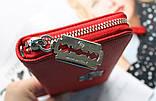 Женский вместительный кошелек Philipp Plein красный, фото 4