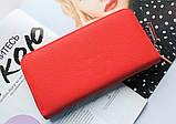 Женский вместительный кошелек Philipp Plein красный, фото 5