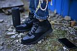 Ботинки черные натуральная кожа с замшей, фото 2