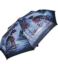 Женский зонт ZEST полный автомат расцветка Первый поцелуй синий