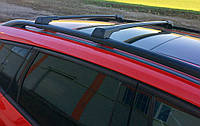 Opel Vivaro 2019-2021 Перемычки на рейлинги без ключа (2 шт) Черный