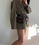 """Женский кожаный ремень с двумя карманами """"Novità"""" коричневый, фото 2"""