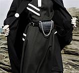 Женская кожаная сумка-ремень Croco Mini Belt Bag черная, фото 3