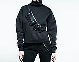 """Женский кожаный ремень с карманами """"Assistente"""" черный, фото 2"""