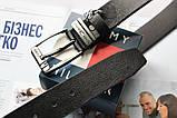 Мужской кожаный ремень с коробкой Tommy Hilfiger black, фото 3