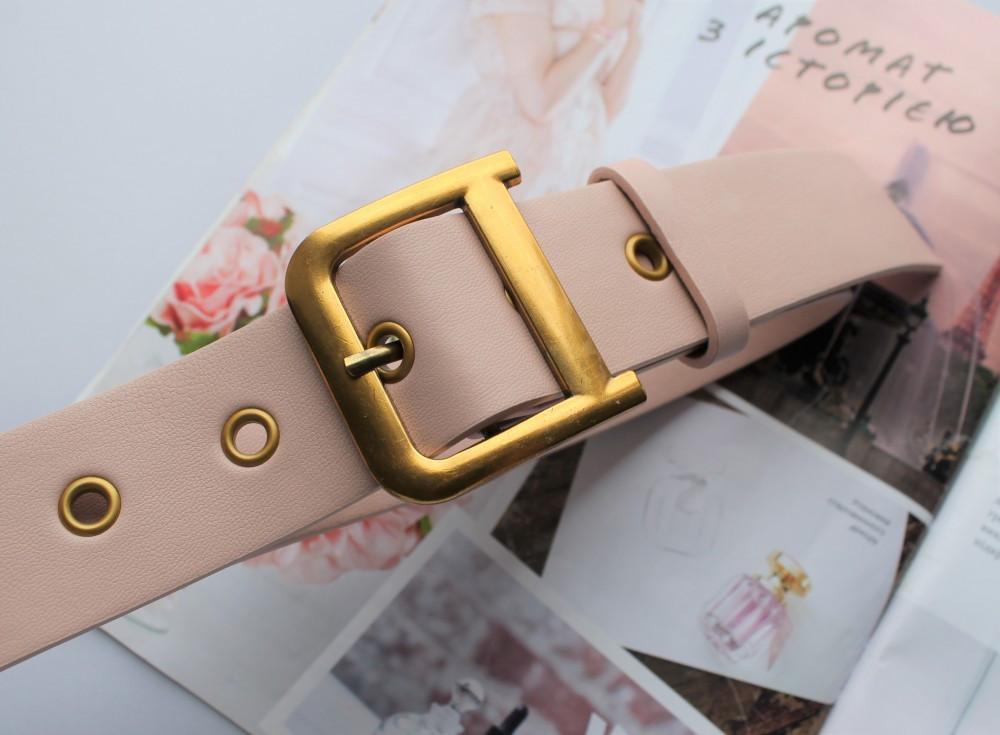 Женский ремень Dior экокожа цвет пудра