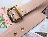 Женский ремень Dior экокожа цвет пудра, фото 2