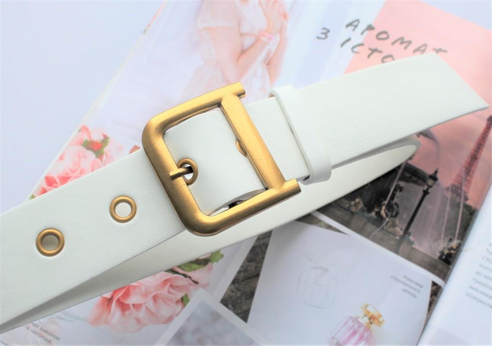 Женский ремень Dior экокожа белый