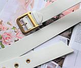 Женский ремень Dior экокожа белый, фото 2