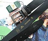 Мужской кожаный ремень Lacoste черный, фото 3