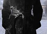 Женский пояс кушак из натуральной кожи широкий черный, фото 5