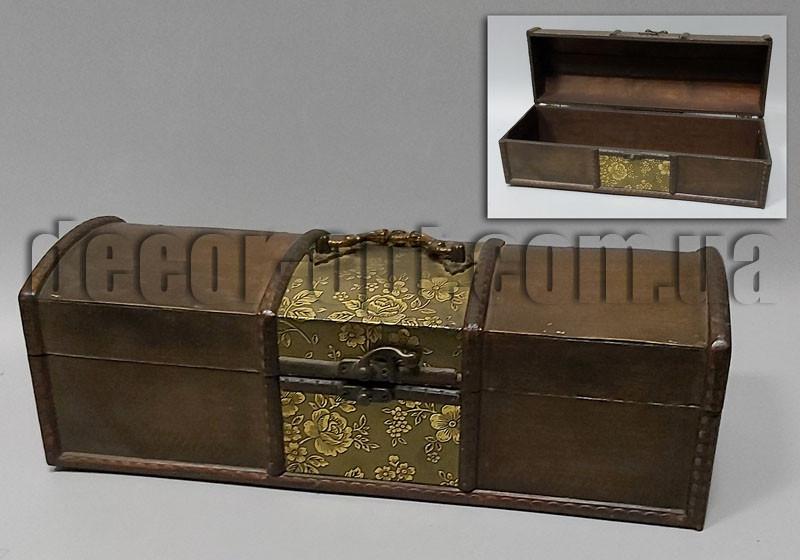 Деревянная шкатулка Бутыльник 35х10х12см