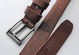 """Мужской кожаный ремень """"Morse"""" коричневый, фото 3"""