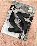 Туфли ткань черные, фото 3