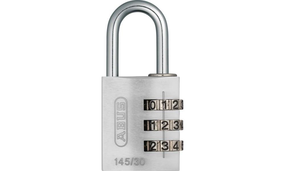 Замок навісний ABUS 145/30 Combination Lock Silver 478611