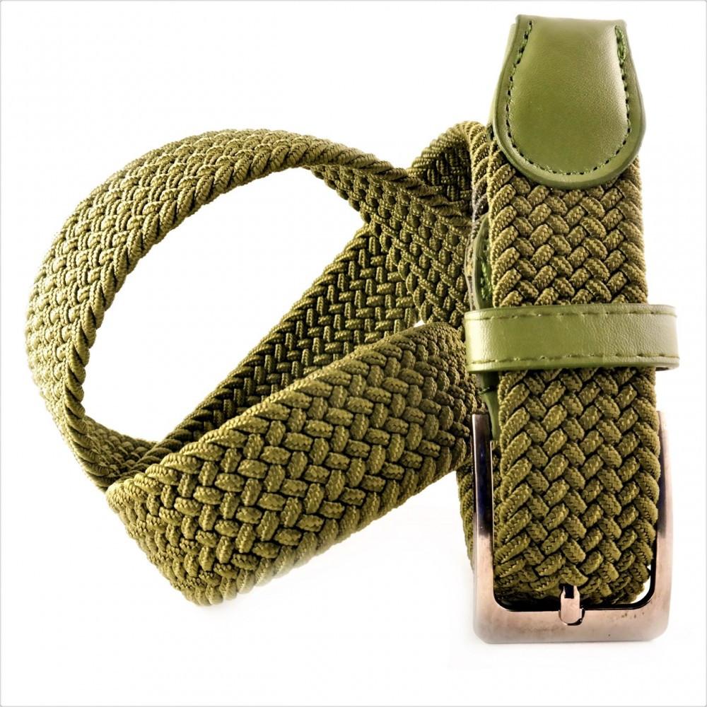 Ремень резинка Weatro Зелёный (хаки) 0078rez-3.5k