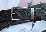 Женский кожаный ремень Louis Vuitton черный, фото 4