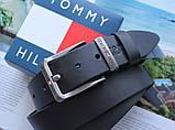 Мужской ремень с коробкой Tommy Hilfiger black, фото 3