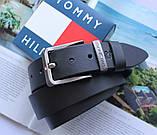 Мужской ремень с коробкой Tommy Hilfiger black, фото 2