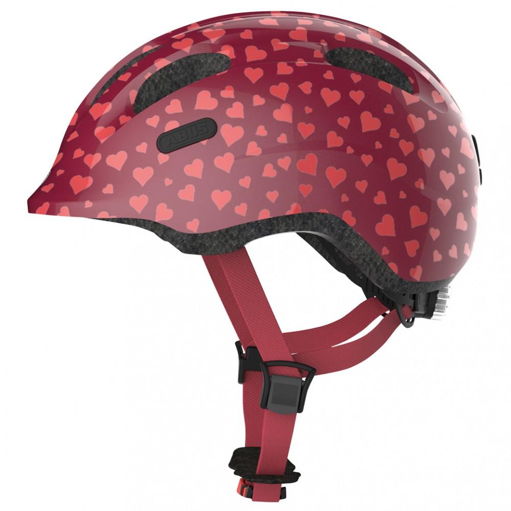 Велосипедний дитячий шолом ABUS SMILEY 2.0 S 45-50 Cherry Heart 869556