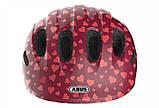 Велосипедний дитячий шолом ABUS SMILEY 2.0 S 45-50 Cherry Heart 869556, фото 3