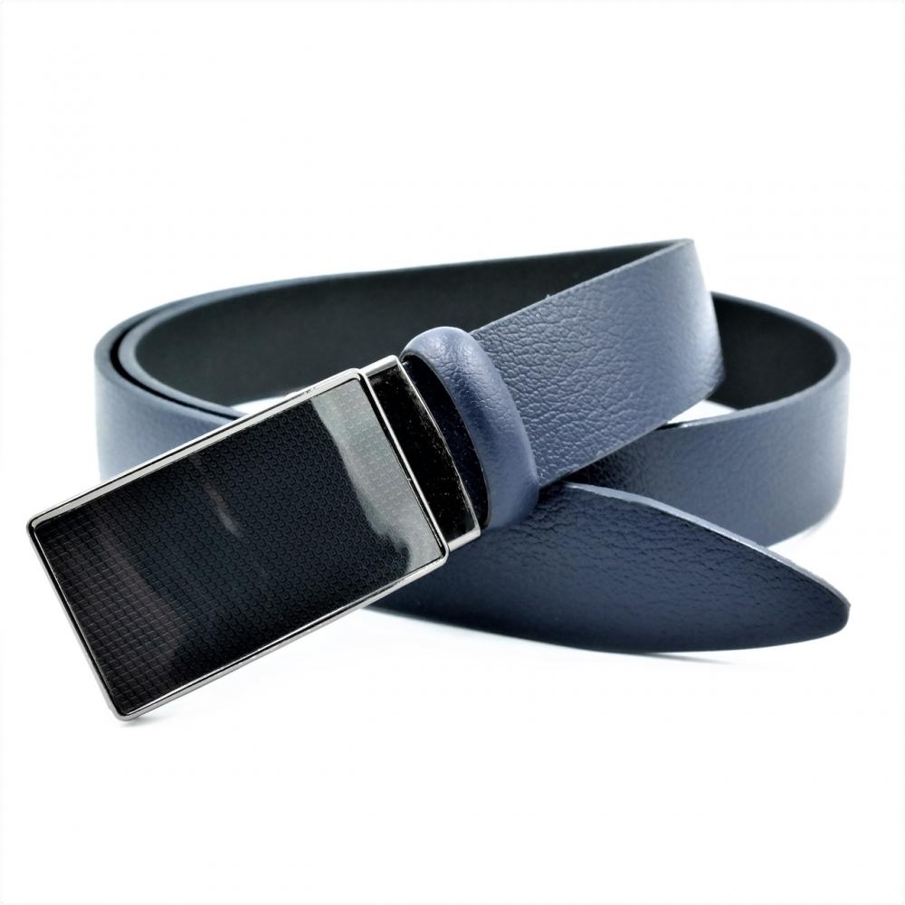 Мужской кожаный ремень Weatro Синий nwm-35zjk-0015
