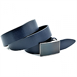 Мужской кожаный ремень Weatro Синий nwm-35zjk-0015, фото 2