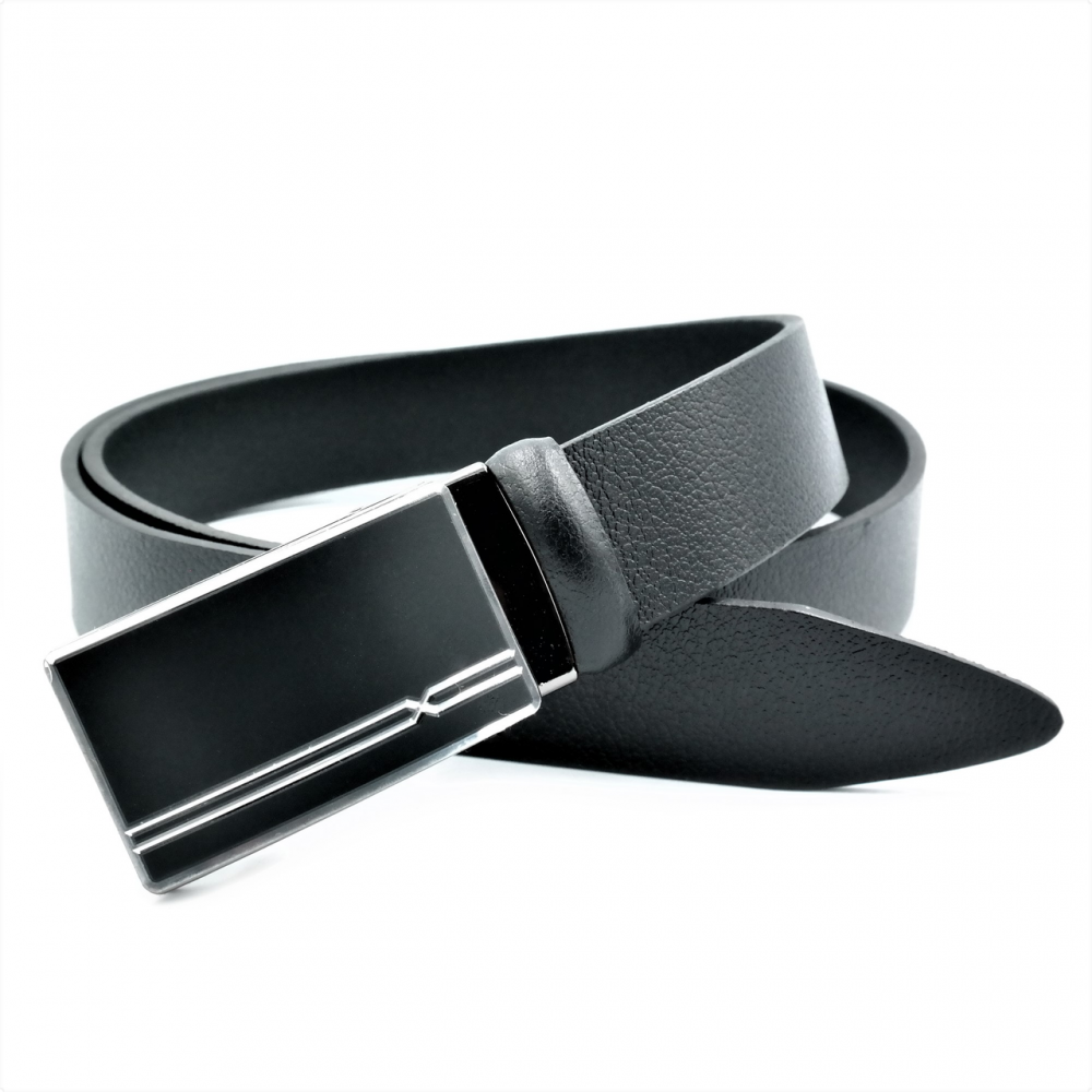Мужской кожаный ремень Weatro nwm-35zjk-0011 Чёрный