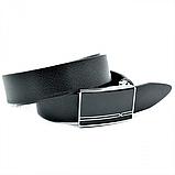 Мужской кожаный ремень Weatro nwm-35zjk-0011 Чёрный, фото 2