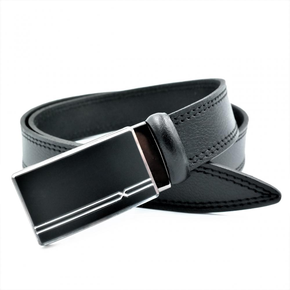Мужской кожаный ремень Weatro nwm-35zjk-0009 Чёрный