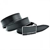 Мужской кожаный ремень Weatro nwm-35zjk-0009 Чёрный, фото 2