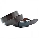 Мужской кожаный ремень Weatro nwm-35zjk-0012 Коричневый, фото 2