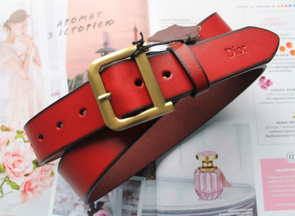 Женский ремень Dior красный