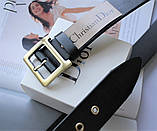 Женский кожаный ремень Dior черный, фото 2