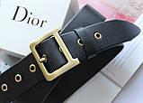 Женский кожаный ремень Dior черный, фото 3