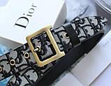 Женский ремень Dior quake серо-черный, фото 2