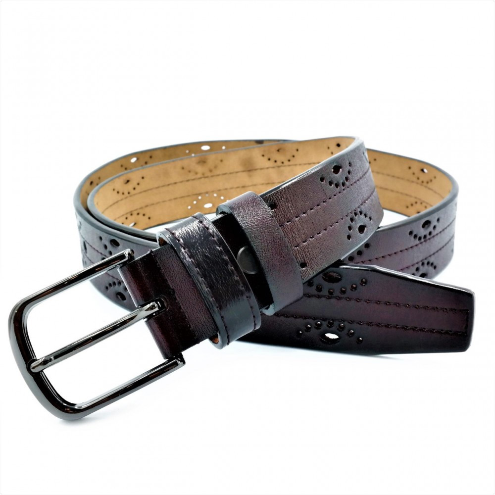 Женский кожаный ремень Weatro Тёмно-коричневый nwzh-35k-87