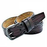 Женский кожаный ремень Weatro Тёмно-коричневый nwzh-35k-87, фото 2