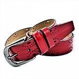 Женский кожаный ремень Weatro Красный nwzh-35k-96, фото 2