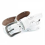 Женский кожаный ремень Weatro Белый nwzh-35k-100, фото 2