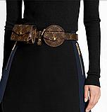 Женский ремень с навесными карманами Louis Vuitton коричневый, фото 3