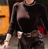 Женский ремень с навесными карманами Louis Vuitton коричневый, фото 6