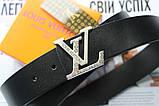 Ремень Louis Vuitton унисекс черный, фото 2