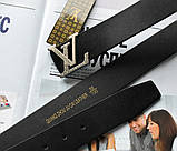 Ремень Louis Vuitton унисекс черный, фото 3