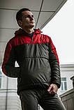Мужская ветровка анорак весна  осень Intruder Hypnotic (красно - черный), фото 2