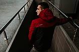 Мужская ветровка анорак весна  осень Intruder Hypnotic (красно - черный), фото 5