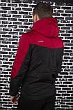 Мужская ветровка анорак весна-осень Intruder Hypnotic (красно - черный), фото 4